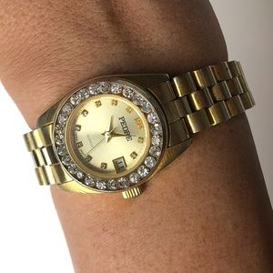Vintage Pedre gold tome embellished watch
